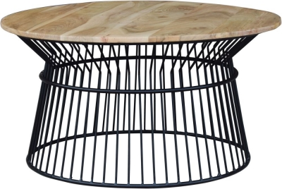 Modern Reclaimed Round Coffee Table - 336