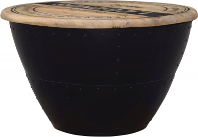 Modern Reclaimed Round Trunk Box - 1012