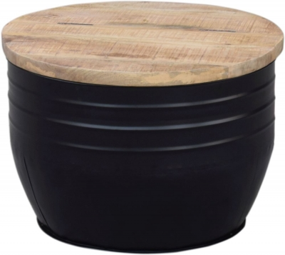 Modern Reclaimed Round Trunk Box - 377