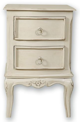 Paris Off White Bedside Cabinet - 2 Drawer