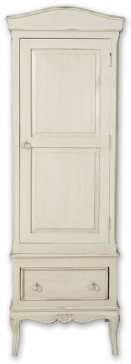 Paris Off White Wardrobe - 1 Door 1 Drawer