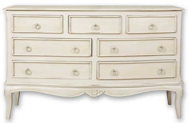 Paris Off White Wide Chest of Drawer - 7 Drawer
