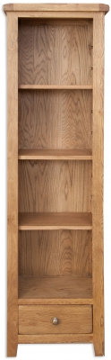 Perth Country Oak Bookcase - Slim