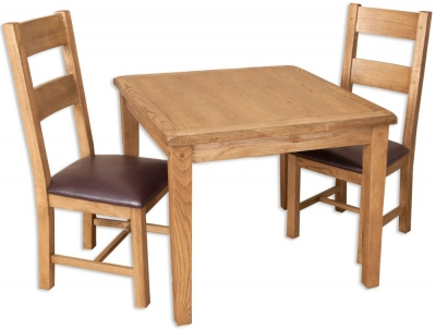 Perth Country Oak Dining Set - 4 Seater