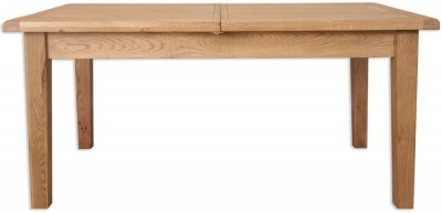Perth Country Oak Extending Large Dining Table