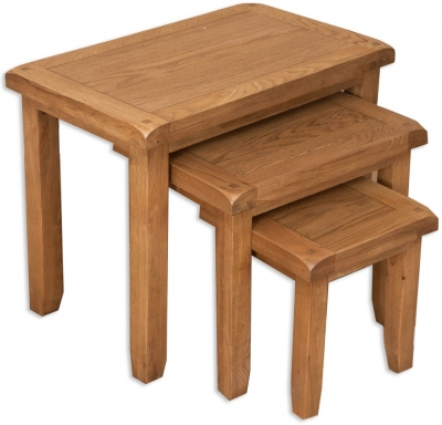 Perth Country Oak Nest of Tables