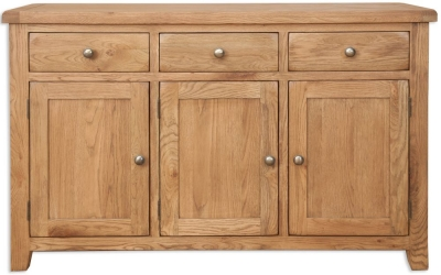 Perth Country Oak Sideboard - 3 Door 3 Drawer