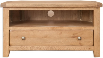 Perth Country Oak TV Cabinet - Corner