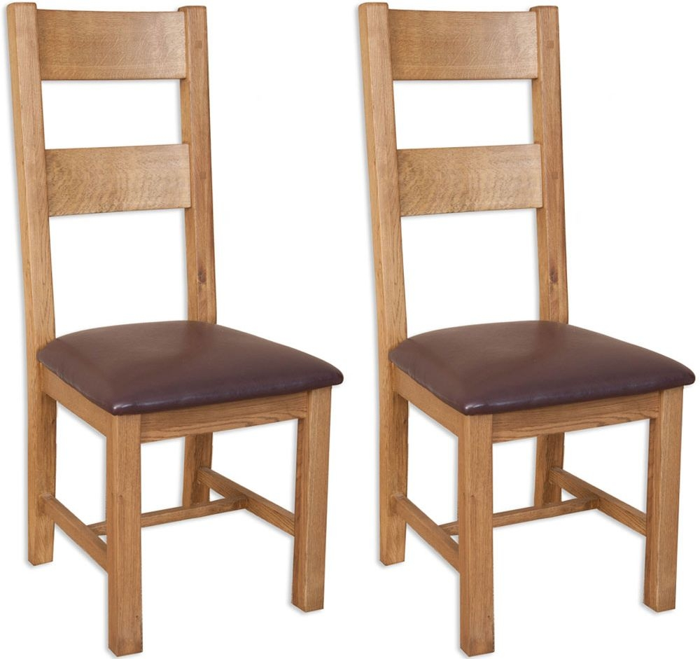 Perth Country Oak Dining Chair (Pair)