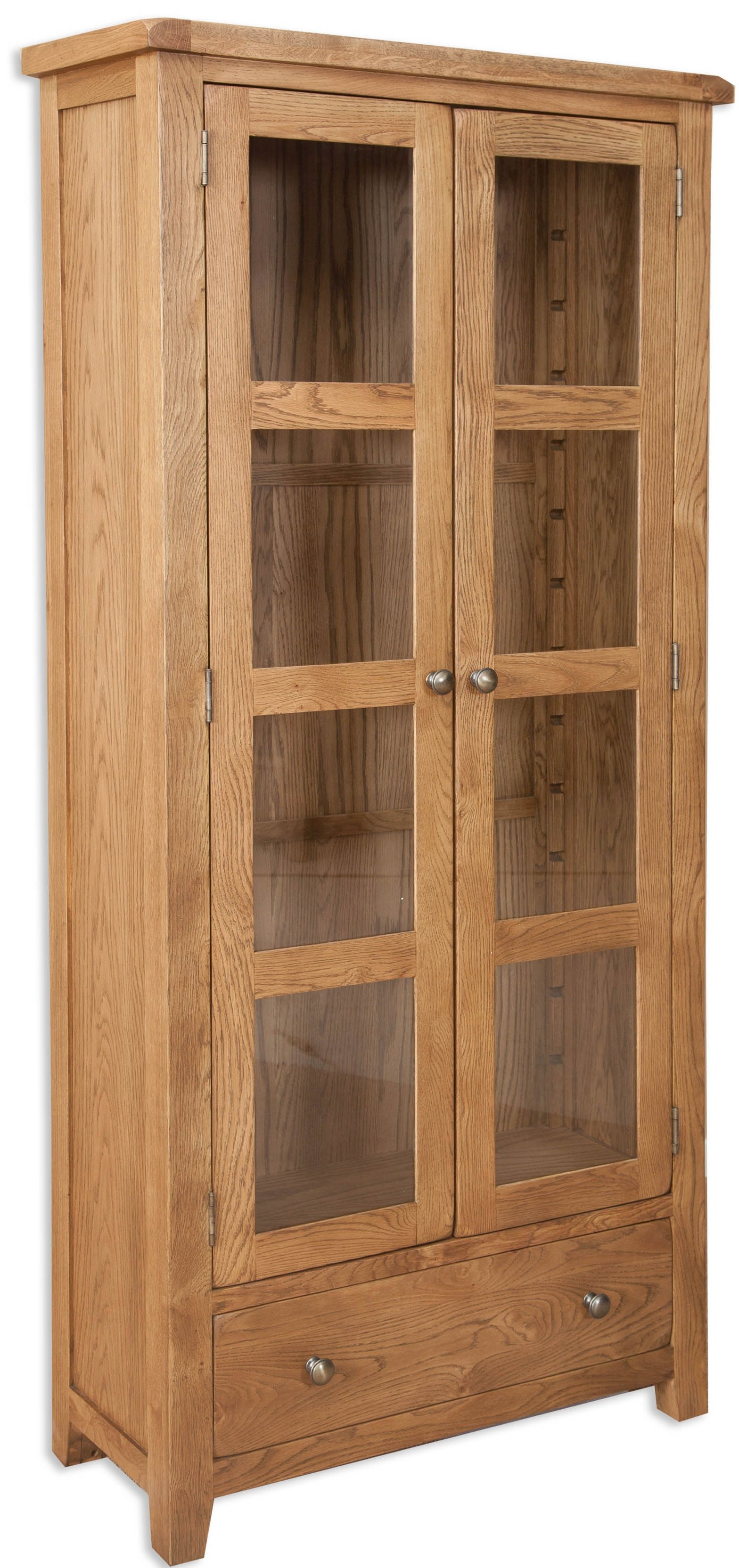 Buy Perth Country Oak Display Cabinet Online Cfs Uk