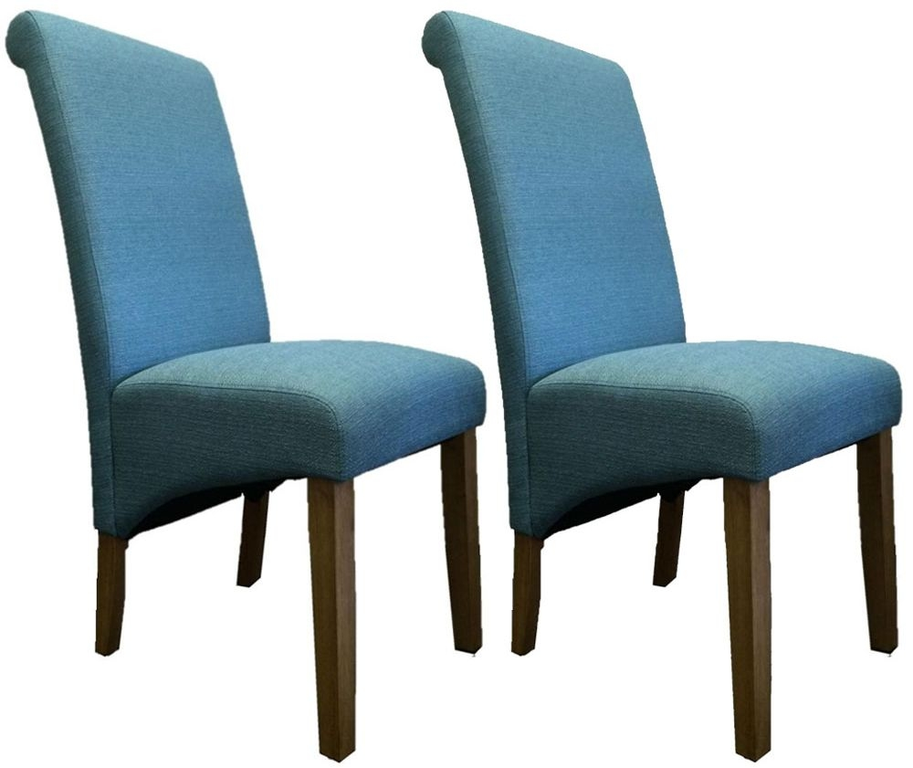 Perth Country Oak Fabric Dining Chair (Pair)