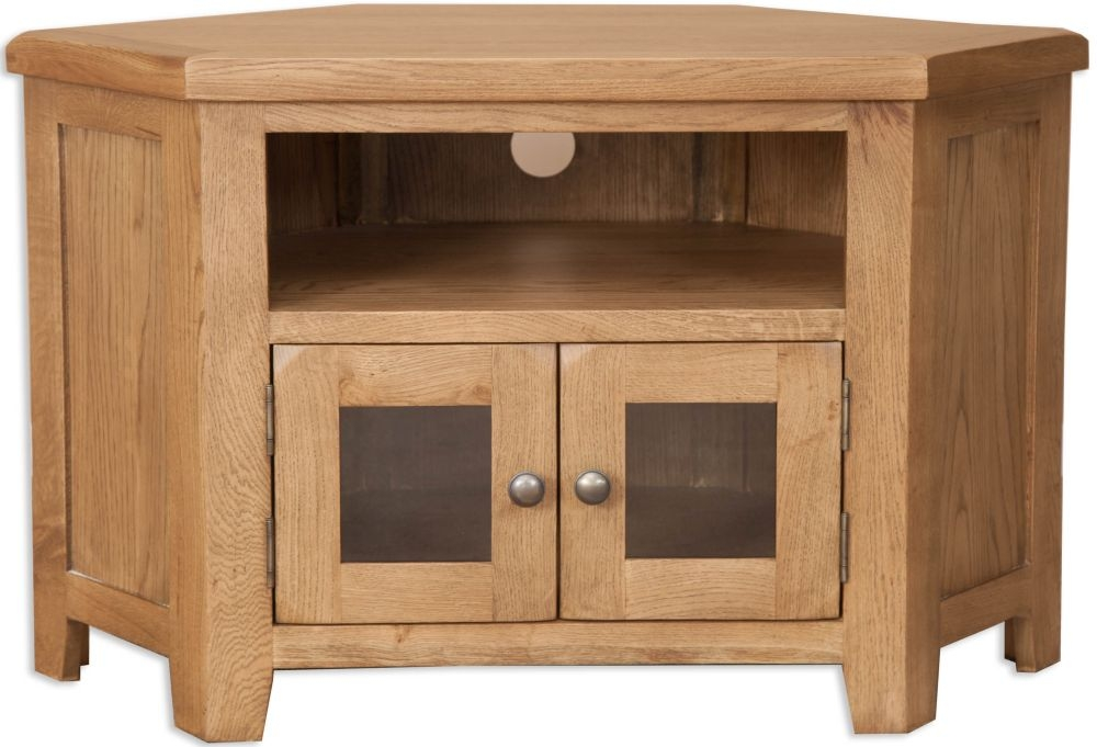 Perth Country Oak TV Cabinet - Glazed
