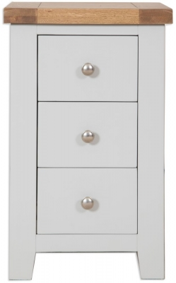 Perth French Grey Bedside Cabinet - 3 Drawer