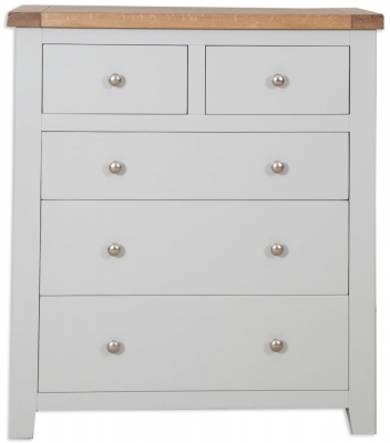 Perth French Grey Chest of Drawer - 2+3 Drawer