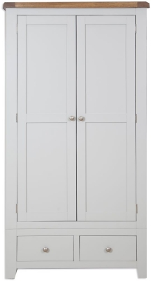 Perth French Grey Wardrobe - 2 Door 2 Drawer