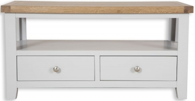 Perth Storage Coffee Table - Oak and French Grey Painted