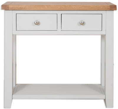 Perth Console Table - Oak and French Grey Painted