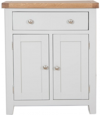 Perth Hall Cabinet - Oak and French Grey Painted