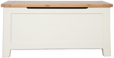 Perth Blanket Box - Oak and Ivory Painted