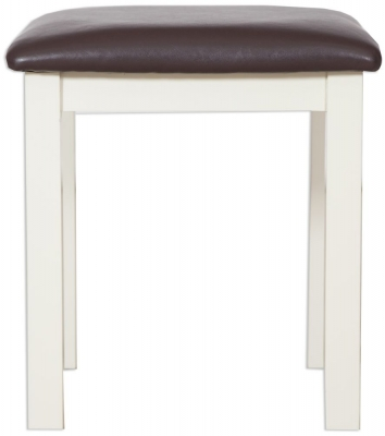 Perth Ivory Painted Dressing Stool
