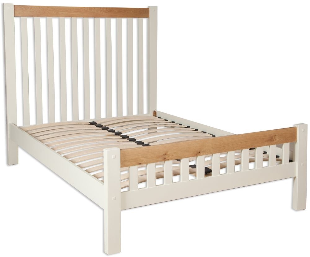 Perth Bed - Oak and Ivory Painted
