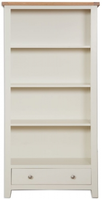 Perth Wide Bookcase - Oak and Ivory Painted