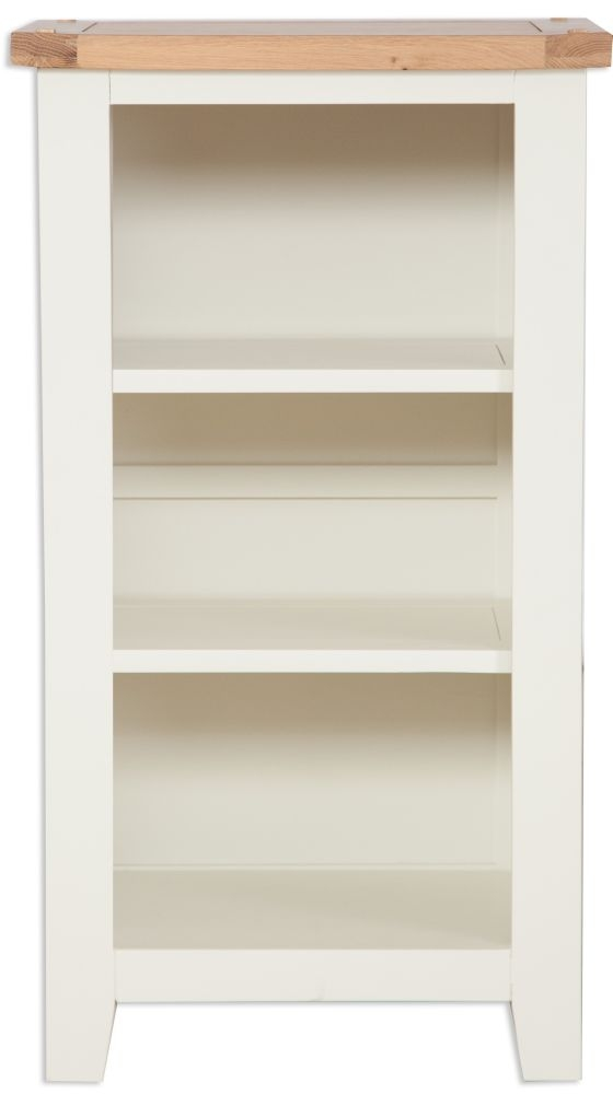 Perth Small Bookcase - Oak and Ivory Painted
