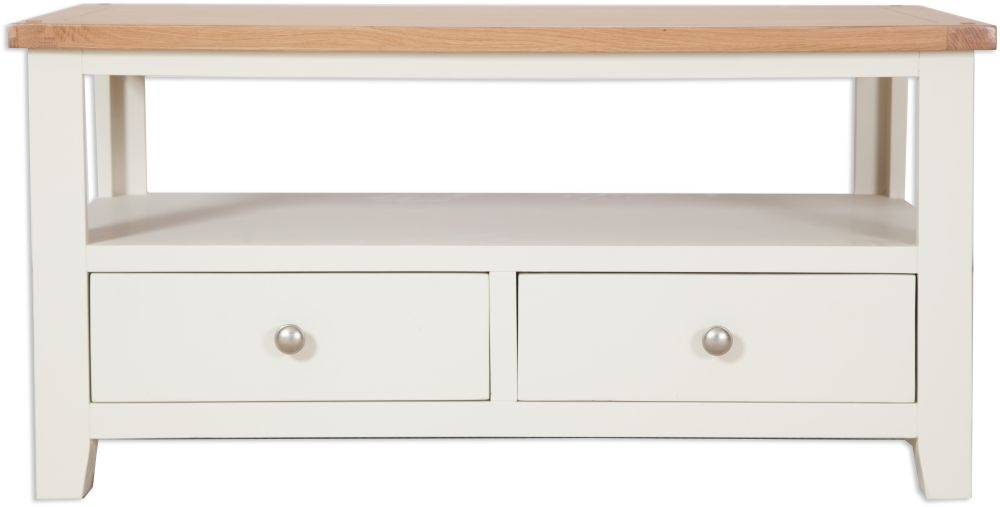 Perth Storage Coffee Table - Oak and Ivory Painted