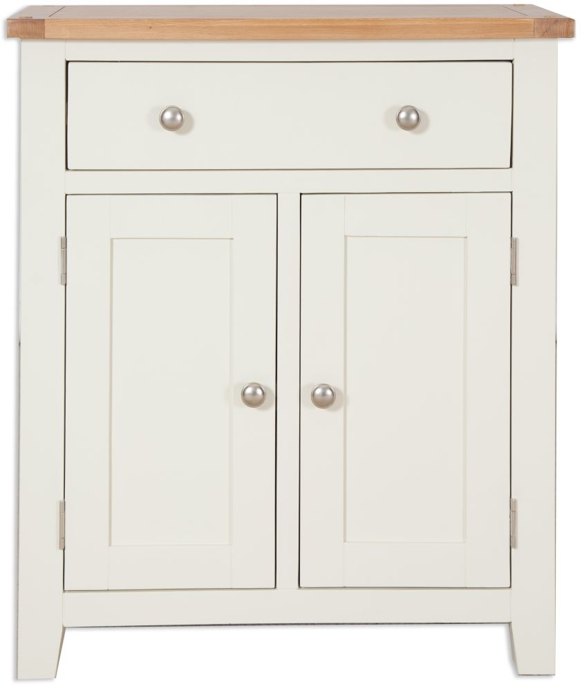 Perth Hall Cabinet - Oak and Ivory Painted