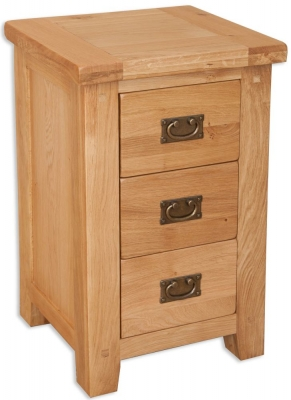 Perth Natural Oak Bedside Cabinet - 3 Drawer