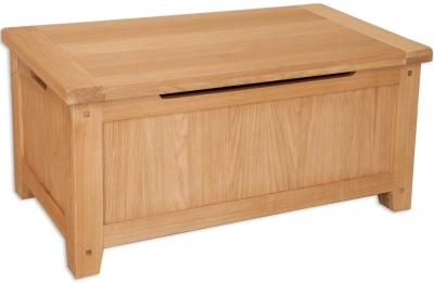 Perth Natural Oak Blanket Box