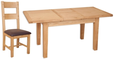 Perth Natural Oak Dining Set with 8 Chairs - Extending