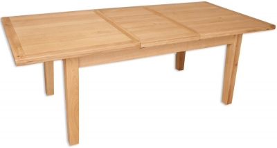 Perth Natural Oak Dining Table - 8 Seater Extending
