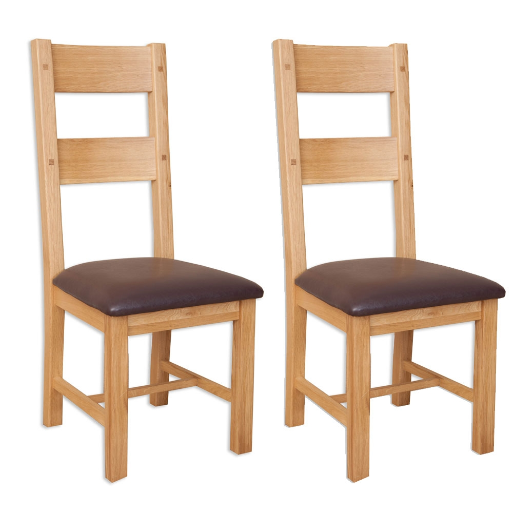 Perth Natural Oak Dining Chair (Pair)