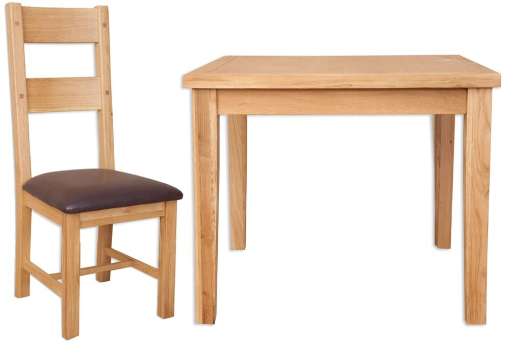 Perth Natural Oak Dining Set with 4 Chairs