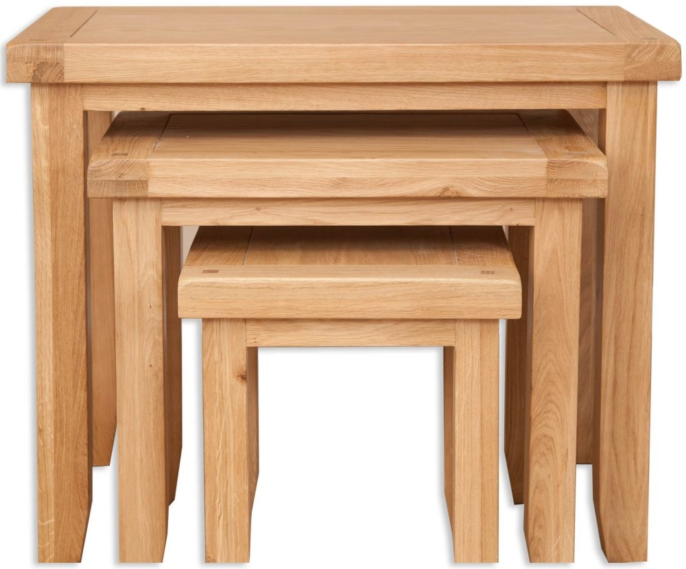 Perth Natural Oak Nest Of Tables