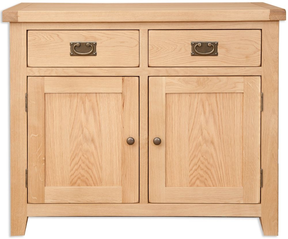Buy perth natural oak sideboard 2 door online cfs uk for Sideboard natur