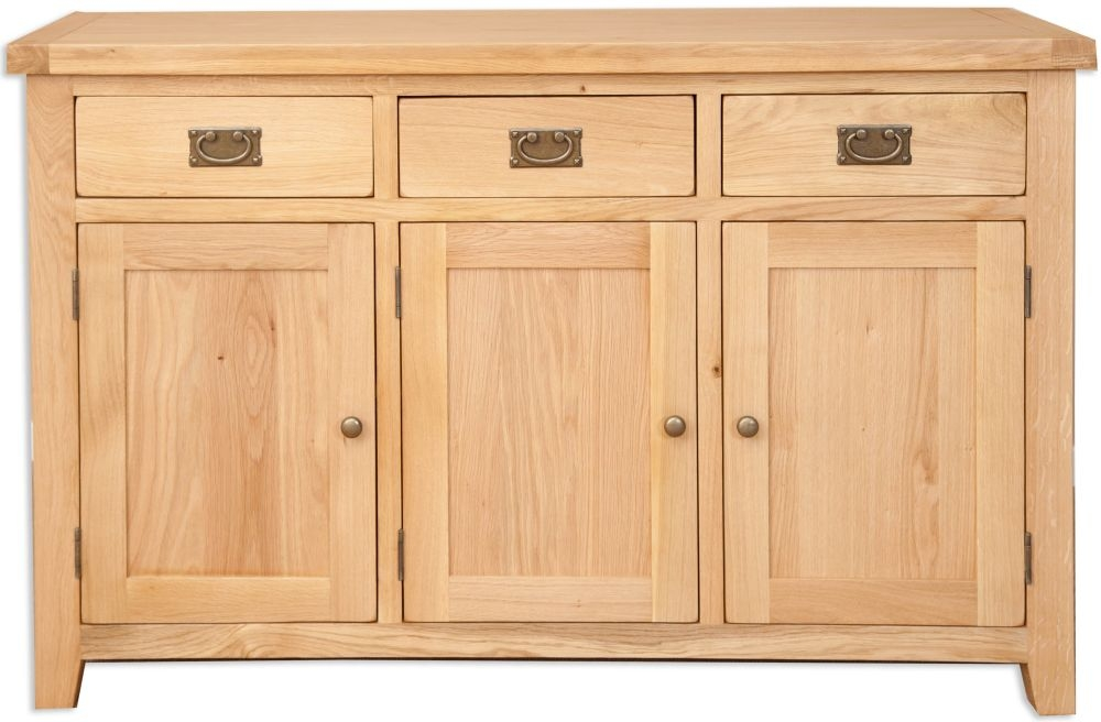 Perth Natural Oak Sideboard - 3 Door