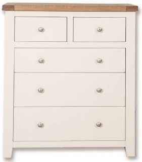 Perth 2+3 Drawer Chest - Oak and White Painted