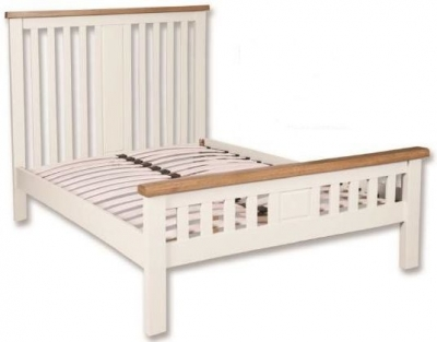 Perth Bed - Oak and White Painted