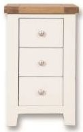 Perth Bedside Cabinet - Oak and White Painted
