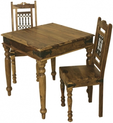 Thacket Sheesham Dining Table and 2 Chairs