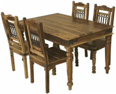 Thacket Sheesham Dining Table and 4 Chairs