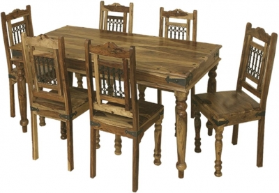 Thacket Sheesham Dining Table and 6 Chairs