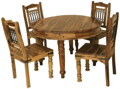 Thacket Sheesham Round Dining Table
