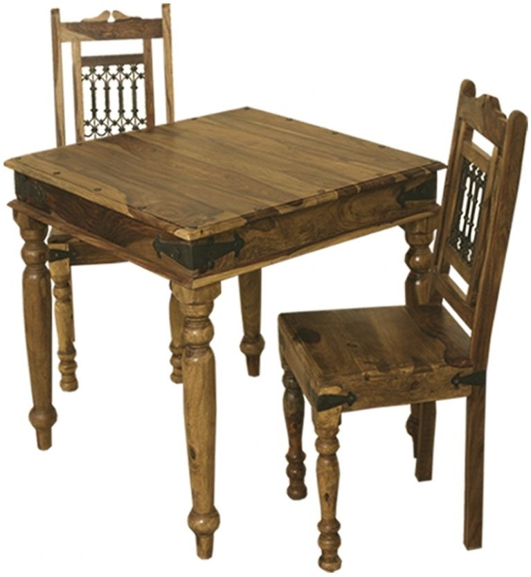 Thacket Sheesham Dining Set - 2 Seater