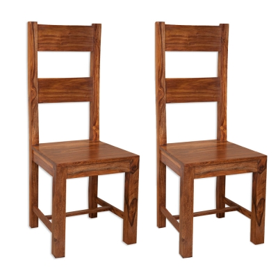 Villa Sheesham Dining Chair (Pair)