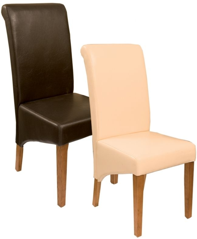 Villa Leather Dining Chair (Pair)