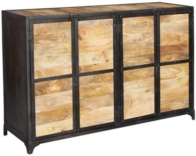Indian Hub Ascot Indusrial Sideboard - Large