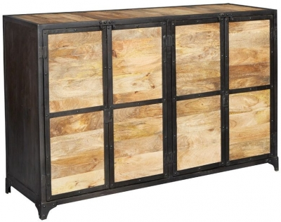 Indian Hub Ascot Industrial Large Sideboard
